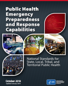 CDC public health emergency preparedness and response capabilities